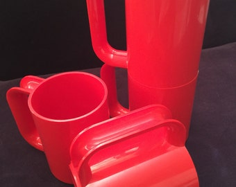Heller MaxMugs by Massimo Vignelli set of 4 red