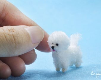Miniature Bichon frise dog, Tiny Bichon frise crochet, tiny crochet dog, amigurumi animals