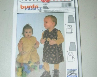 Burda 9904 Toddler Jumper Sleeveless Dress Baby Pattern Size 3 - 18 Months 12672