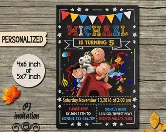Snoopy Invitation / Snoopy Birthday Invitation / Snoopy Birthday / Snoopy Invite / Snoopy Printable / Snoopy Party / Snoopy Card / Peanuts