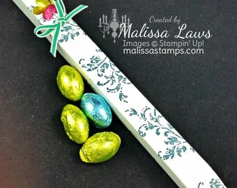 Chocolate egg favor/tube/candy/Easter candy