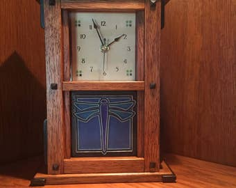 Full Bungalow Mission Mantle Clock