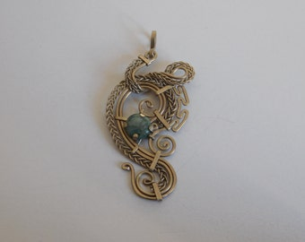 Filigree and jade necklace