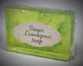 Ginger and Lemongrass Glycerine Soap Goats Milk Soap