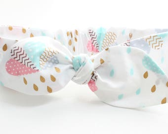 Rain cloud baby headband, baby topknot, knotted headband, baby headband, baby headband, white baby headband, trending