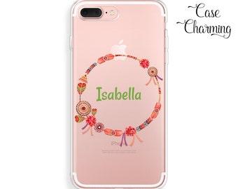Personalized iPhone 7 Plus Case Boho iPhone 6 Case iPhone 7 Case Clear iPhone 6s Case iPhone 6 Plus Case iPhone SE Case iPhone 6s Plus Case