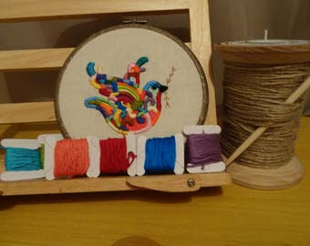 Multicoloured, Bird art, Bird wall hanging, Hand embroidery, Embroidery hoop art, Unique gift, Bird, Nature, Wall art, Art, home decor, gift