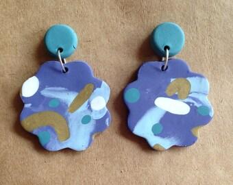 Periwinkle cloud earrings