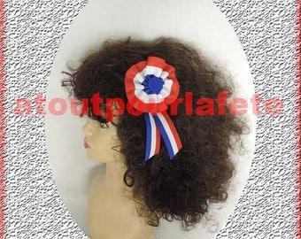 """Barrette hair """"Tricolore Cockade"""""""