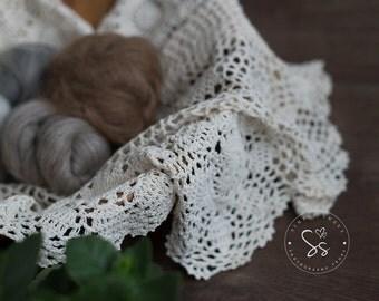 Vintage Layers , handmade , Crochet , Mini Blanket, Photo Props , Newborn Props
