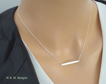 Skinny Bar Necklace Silver/ Gold Plated | Simple Bar Necklace | Dainty Necklace | Bar Necklace | Layering Necklaces | Silver Bar Necklace