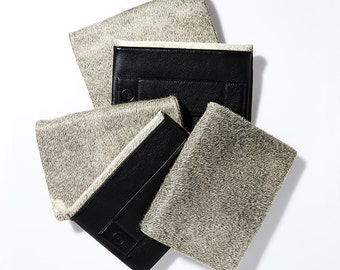 Everyday Cowhide Clutch - Grey Black