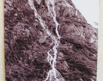5 x7 Vertical Black and White Print ~ Waterfall