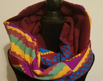 Ankara infinity scarf for fashion and winter