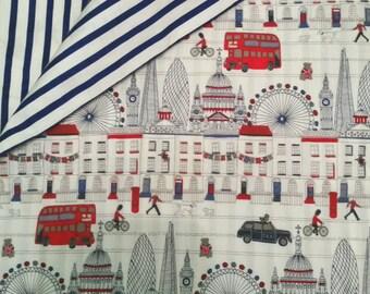 London Junior Duvet Cover set with pillow case.