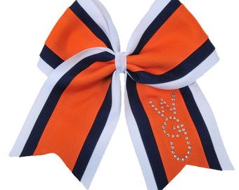 Personalized Rhinestone Cheer Bow-All Team Colors Available-Fast Shipping-Top Quality Materials-Custom Cheer Bow