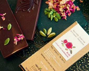 Elements Truffles - Dairy Free Chocolate Bar - Gluten Free, Non-GMO, Raw & Organic Chocolate Bar - Ayurveda Inspired Healthy Chocolate Bar