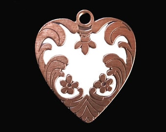 REBEL IVORY heart pendant large