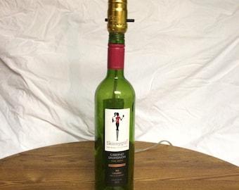 Skinny Girl Wine Bottle Lamp