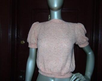Puffy Short Sleeve Sweater