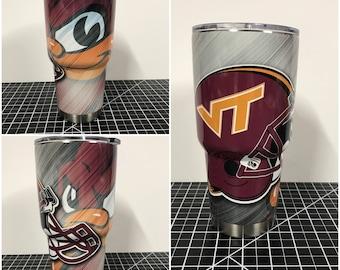 Virginia Tech Hokies Custom Yeti 20 30 RTIC Cup Fully Wrapped