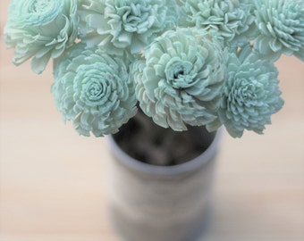 Mint Stemmed Sola Flowers, Sola Flowers, Rustic Wedding, Cake Table Decor, Country Wedding, Rustic Home Decor, Wedding Flowers, DIY flowers