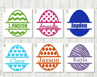 Easter Egg Decal - Easter Egg Monogram Decal - Kids Easter Gift - Personalized Easter Decal - Easter Basket Decal - Custom Easter Gift - Egg