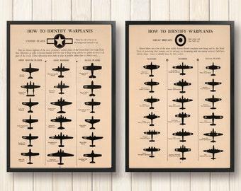 War Plane, World War II, 4th of July, Vintage Style, USA Plane, World War Military, How to identify Warplanes, United States, Great Britain