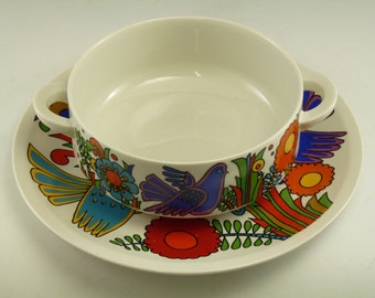 VILLEROY and BOCH - ACAPULCO Pattern - Soup Bowl and Underplate
