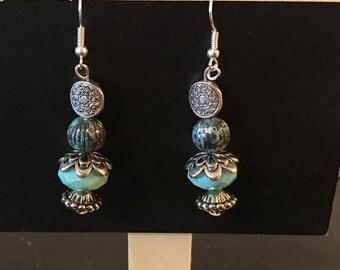 Rustic Turquoise Earrings