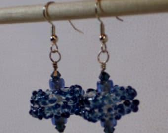Ocean blue dangle earrings