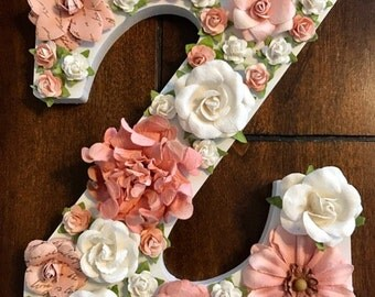 Custom Floral Monogram Letters