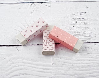 Kawaii Erasers, Cute Erasers, Back to School, Stocking Fillers, Beautiful Stationery, Pencil Eraser, Pencil Rubbers, Fun Stationery