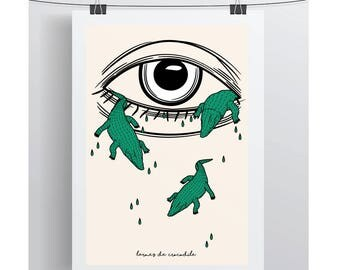 """Crocodile tears - series """"French expressions"""" silkscreen 