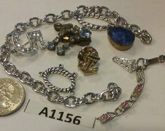 Vintage, Old stock, Jewelry lot, repair, Repurpose, Salvage, lot  A1156