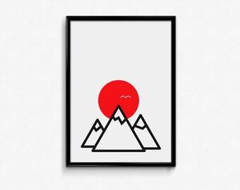 The great outdoors / digital print / motivational / inspiration / artwork / printable art / wall art / modern / minimalist / decoration