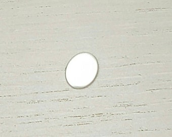 Oval stamping blank 6x4mm, sterling silver blanks, 16 gauge, metal stamping blank, hand stamped jewellery
