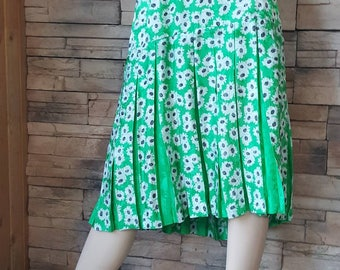 Silk skirt size 14,green silk skirt size large ,summer skirt(2)