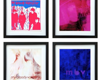My Bloody Valentine - Framed Album Art - Set of 4 Images