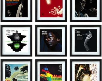Miles Davis - Framed Album Art - Collector Series