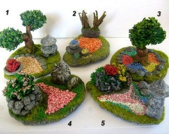 Japanese garden. Doll miniature. Scale 1:12