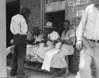 "Dorothea Lange Fine Art Photography ""Georgia peach pickers"", Fine Art, Photography, Black and White Photography"