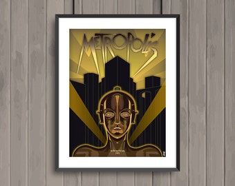 METROPOLIS, minimalist movie poster