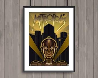 METROPOLIS, minimalist movie poster