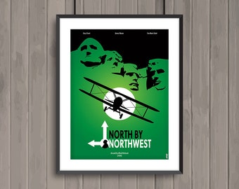 NORTH BY NORTHWEST, minimalist movie poster