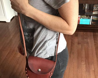 Handcrafted leather bag/purse