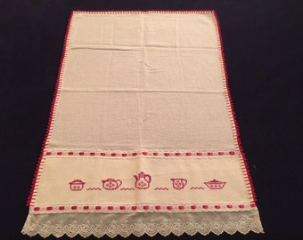 Kitchen Towel with a Teapot Design