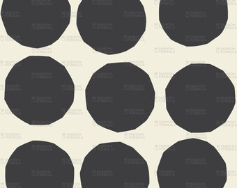 Polka Dot Paper Circles Fabric by RuthRobson