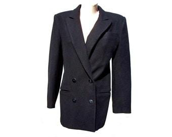 Vintage Vitosha 47 women coat woolen black size 170/84 made in Bulgaria