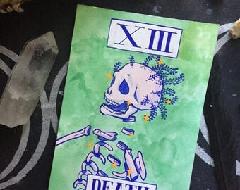 Color Tarot Card Painting - XIII Death